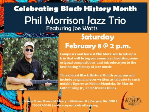 Phil Morrison Trio Feb 8