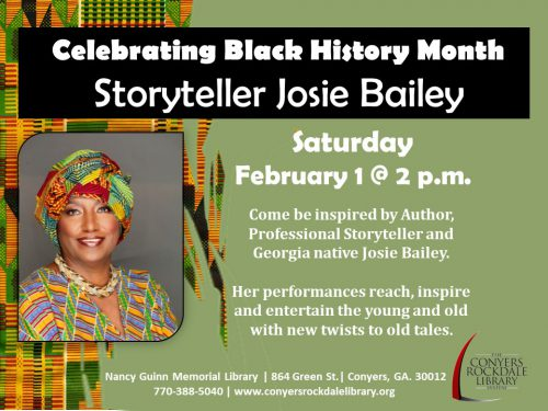 Storyteller Josie Bailey Feb 1