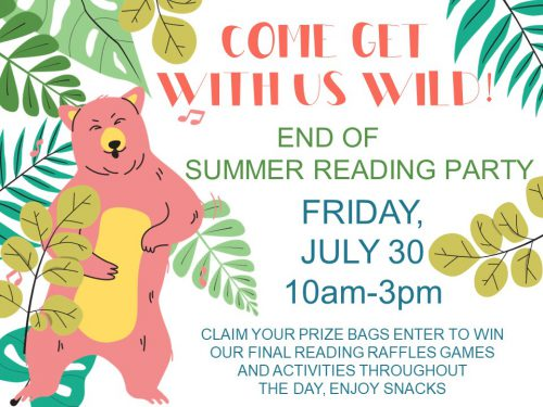 end of summer reading party